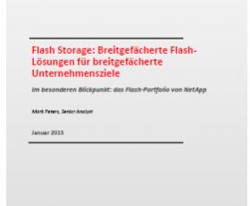 IT Infrastrukturen besser aufstellen mit Flash-optimiertem Storage