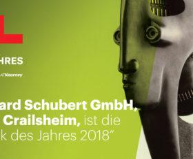 """Gerhard Schubert GmbH ist die """"Fabrik des Jahres"""""""