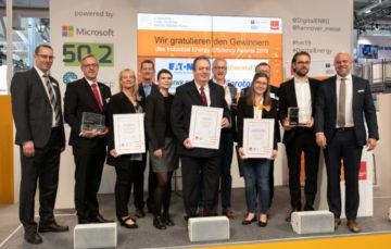 Industrial Energy Efficiency Award: ContiTech, Eaton, Gerotor und MWK Bionik sind die Gewinner