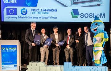 "FCH JU Awards 2019 – Europäischer Innovationspreis für bahnbrechende Projektarbeit ""SOSLeM"""